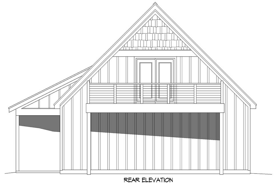 Bungalow, Country, Craftsman, Traditional 2 Car Garage Apartment Plan 52113 Picture 4
