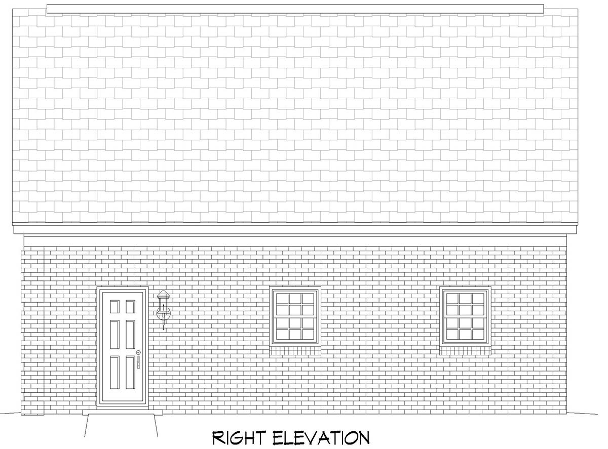 Bungalow, Craftsman, Traditional 2 Car Garage Apartment Plan 52114 Picture 1