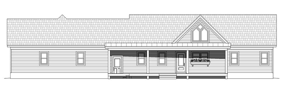 Traditional House Plan 52115 with 2 Beds, 2 Baths, 2 Car Garage Picture 4