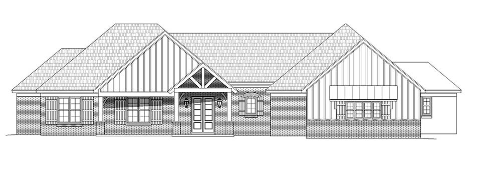 French Country, Ranch, Traditional House Plan 52117 with 3 Beds, 3 Baths, 3 Car Garage Picture 3