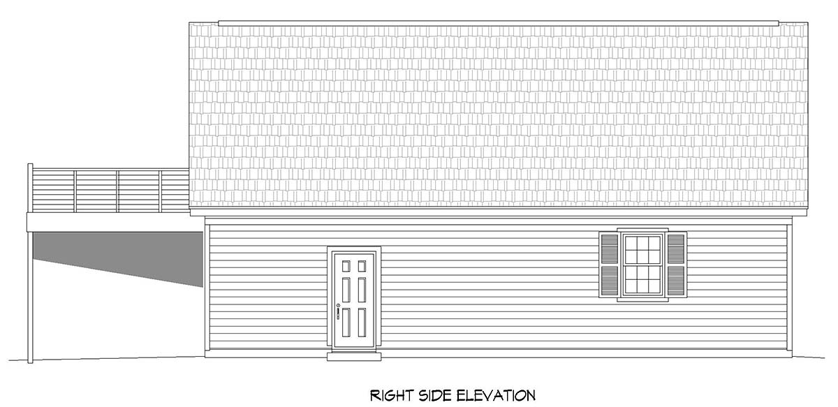 Country, Ranch, Traditional 4 Car Garage Apartment Plan 52119 Picture 1
