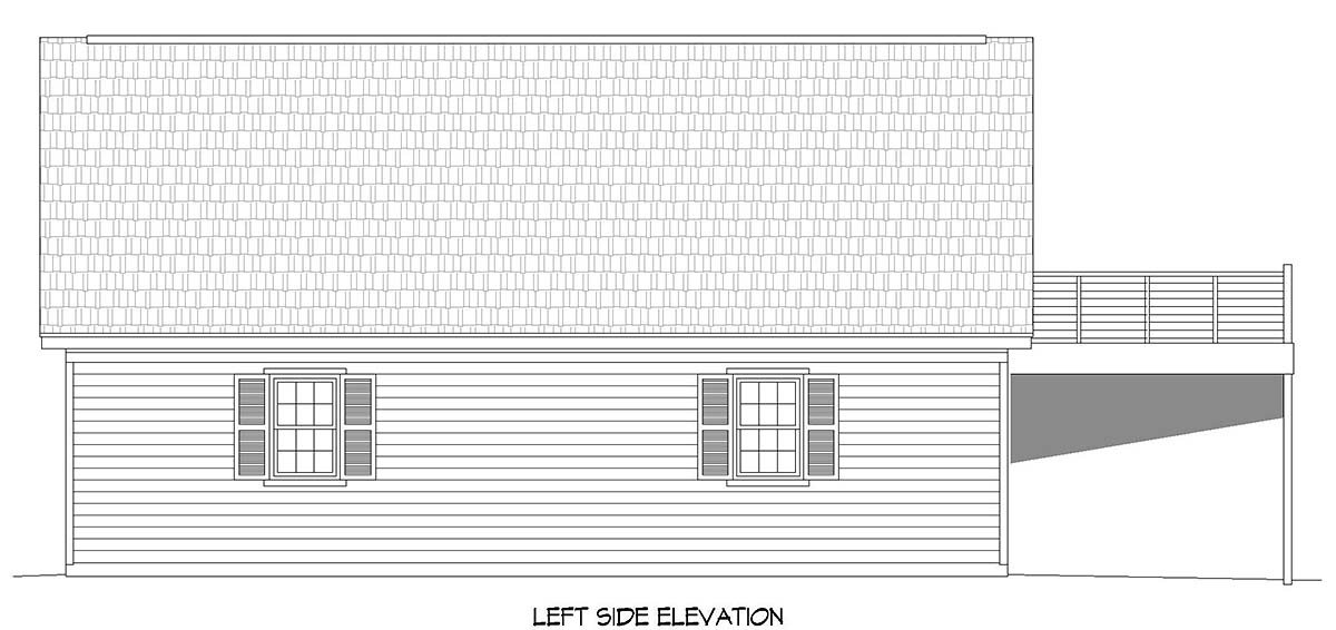 Country, Ranch, Traditional 4 Car Garage Apartment Plan 52119 Picture 2