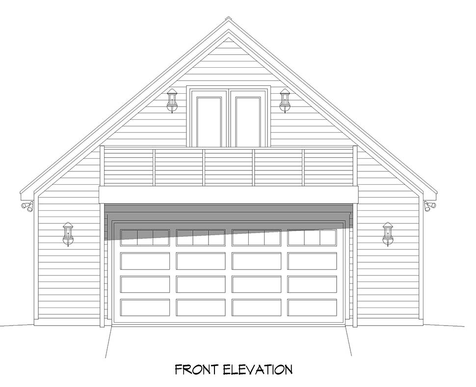 Country, Ranch, Traditional 4 Car Garage Apartment Plan 52119 Picture 3