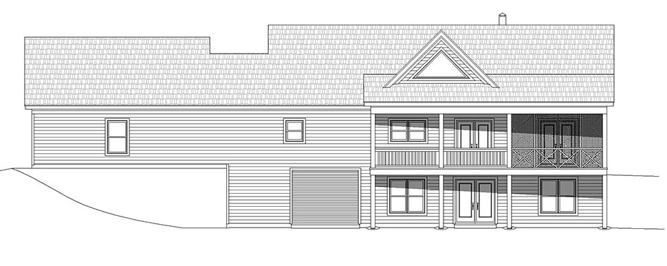 Country, Farmhouse, Traditional House Plan 52122 with 2 Beds, 2 Baths, 2 Car Garage Picture 4