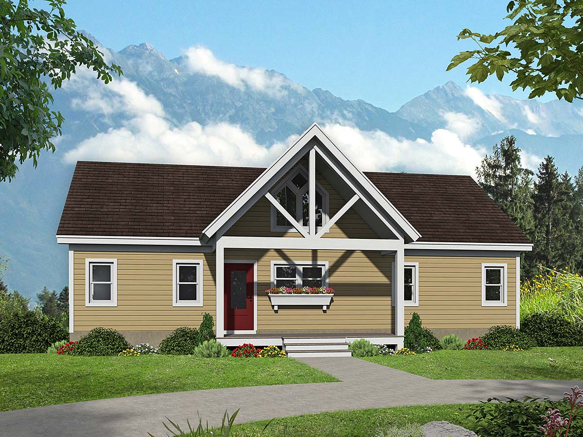 Traditional House Plan 52127 with 4 Beds, 4 Baths Elevation