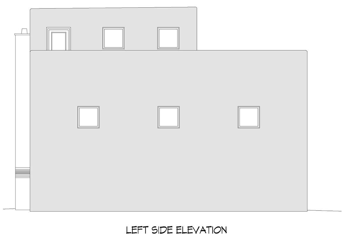 Santa Fe, Southwest Garage-Living Plan 52129 with 1 Beds, 1 Baths Picture 2