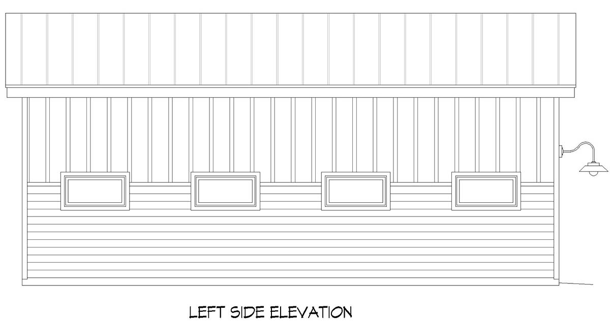 Contemporary, Modern 1 Car Garage Plan 52130 Picture 2