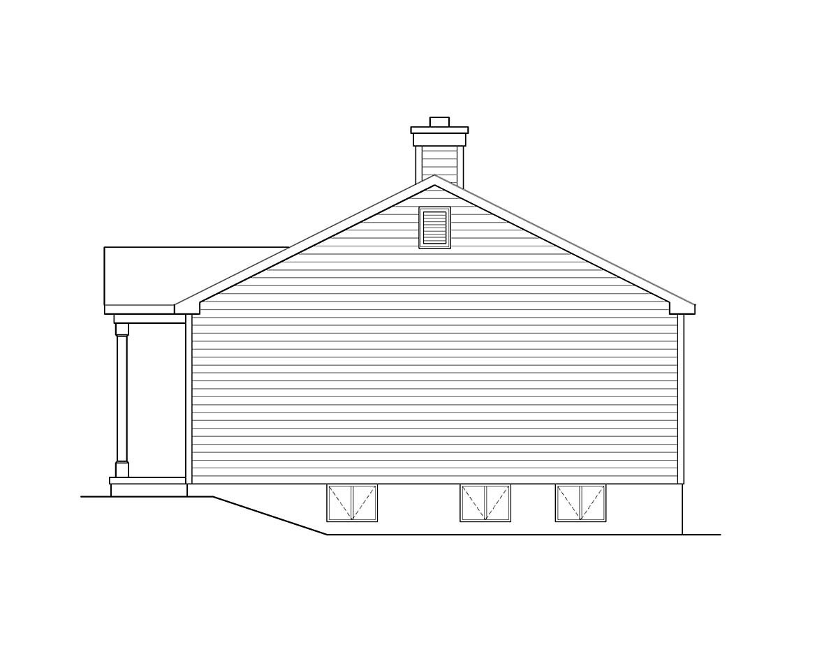 Ranch House Plan 52203 with 3 Beds, 1 Baths Picture 1