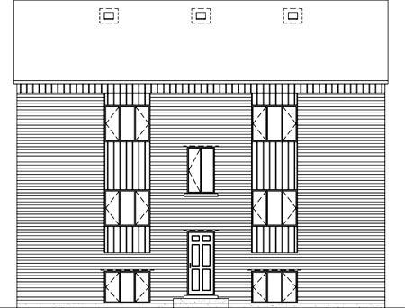 Multi-Family Plan 52422 with 12 Beds, 6 Baths Rear Elevation