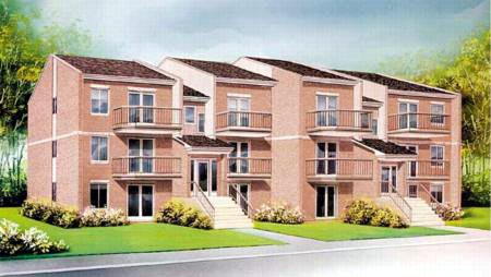 Multi-Family Plan 52425 with 18 Beds, 12 Baths Elevation