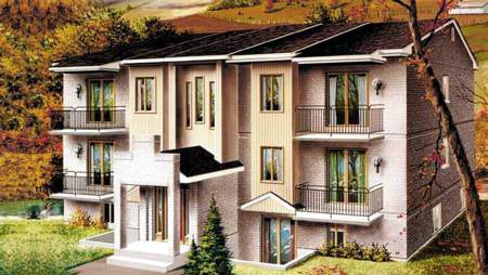 Multi-Family Plan 52426 with 12 Beds, 6 Baths Front Elevation