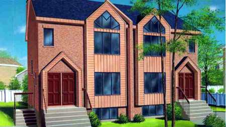 Multi-Family Plan 52453 with 6 Beds, 4 Baths Front Elevation