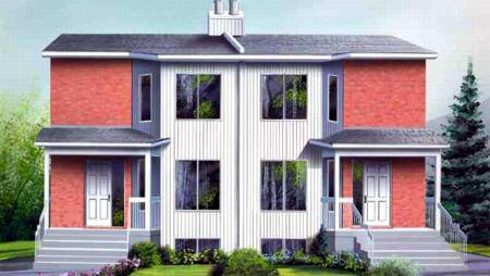Multi-Family Plan 52454 with 6 Beds, 4 Baths Front Elevation