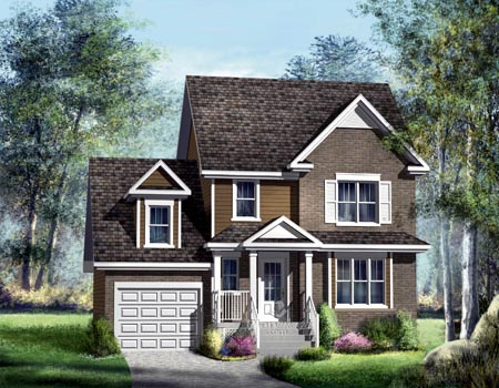 House Plan 52569 with 3 Beds, 2 Baths, 1 Car Garage Elevation