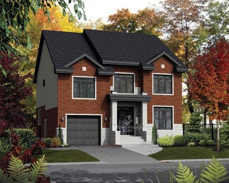 House Plan 52675 with 4 Beds, 4 Baths, 1 Car Garage Front Elevation