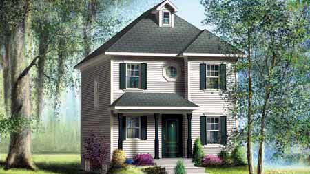 House Plan 52719 with 2 Beds, 2 Baths Elevation