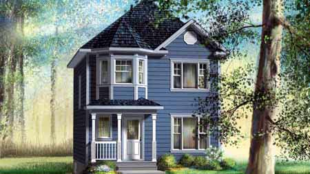 House Plan 52723 with 2 Beds, 2 Baths Front Elevation