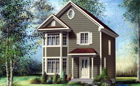 House Plan 52726 with 2 Beds, 2 Baths Front Elevation