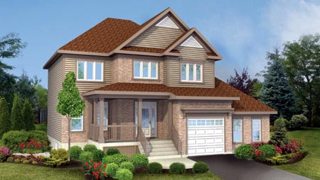 House Plan 52774 with 4 Beds, 4 Baths, 1 Car Garage Elevation