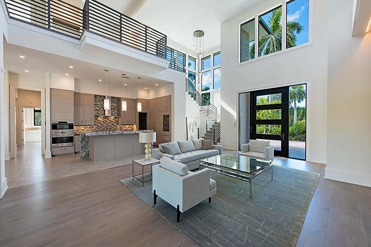Coastal, Contemporary, Florida, Mediterranean House Plan 52931 with 4 Beds, 5 Baths, 3 Car Garage Picture 10