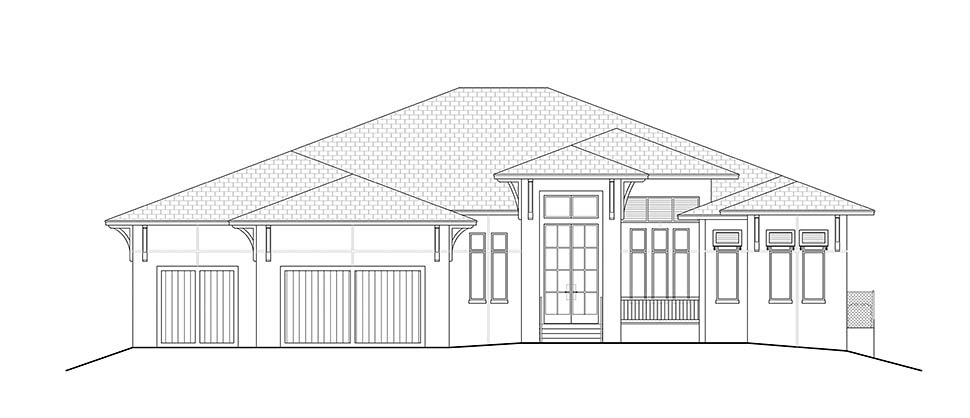 Coastal, Contemporary, Florida House Plan 52961 with 5 Beds, 6 Baths, 3 Car Garage Picture 1