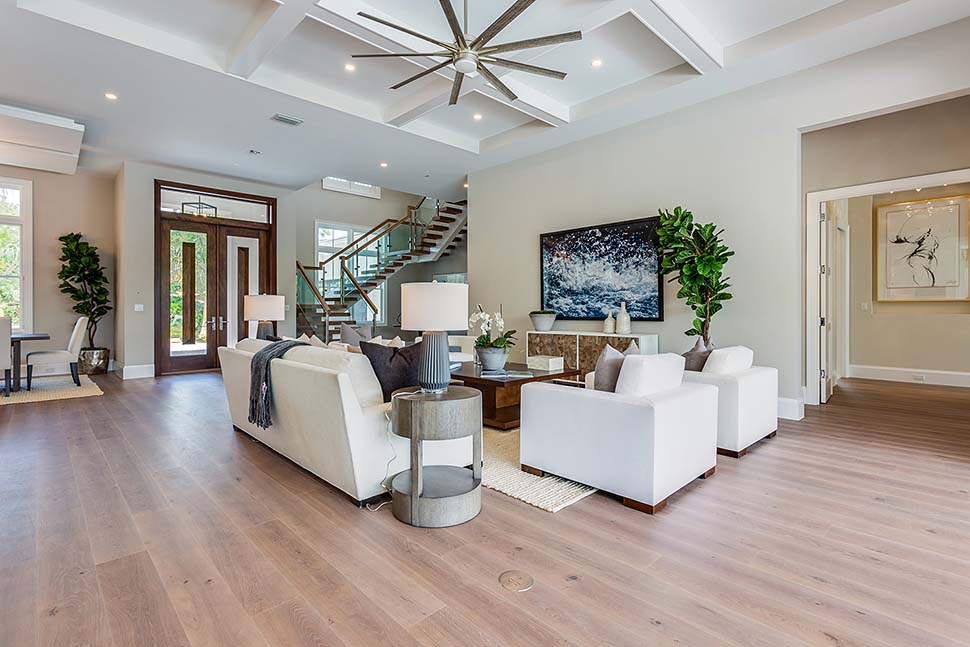 Coastal, Contemporary House Plan 52962 with 4 Beds, 6 Baths, 4 Car Garage Picture 6