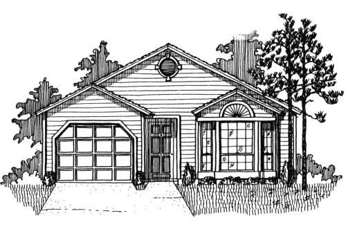 House Plan 53117 with 3 Beds, 2 Baths, 1 Car Garage Front Elevation
