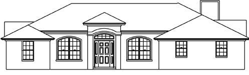 House Plan 53223 with 3 Beds, 2 Baths, 2 Car Garage Front Elevation