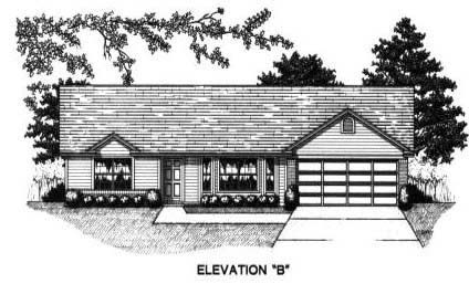 House Plan 53227 with 3 Beds, 2 Baths, 2 Car Garage Picture 1