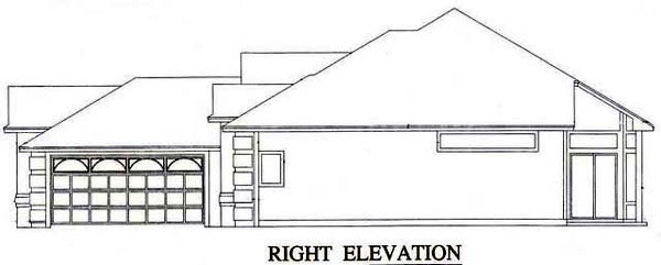 House Plan 53242 with 3 Beds, 2 Baths, 2 Car Garage Picture 2