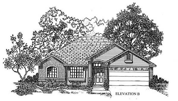House Plan 53245 with 4 Beds, 2 Baths, 2 Car Garage Picture 1