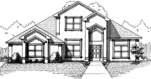 House Plan 53503 with 4 Beds, 4 Baths, 2 Car Garage Picture 1