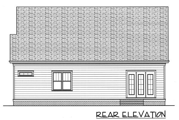 Craftsman House Plan 53760 with 3 Beds, 3 Baths, 2 Car Garage Rear Elevation