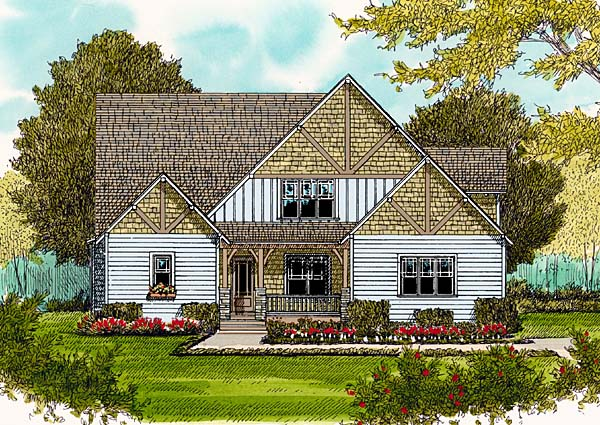 Victorian House Plan 53813 with 4 Beds, 4 Baths, 2 Car Garage Elevation