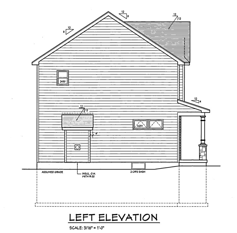 Traditional House Plan 54064 with 3 Beds, 2 Baths, 2 Car Garage Picture 1