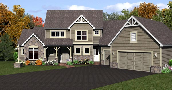 Cape Cod House Plan 54081 with 3 Beds, 3 Baths, 3 Car Garage Front Elevation