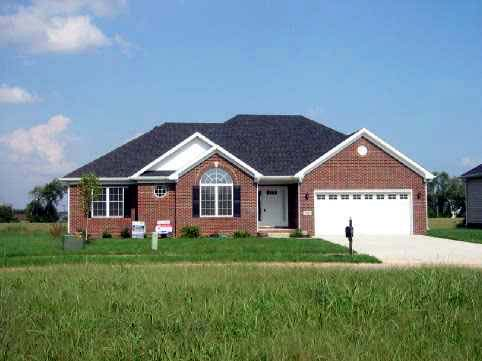 Traditional House Plan 54413 with 3 Beds, 2 Baths, 2 Car Garage Front Elevation