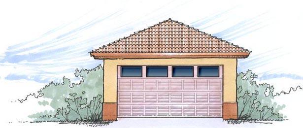 2 Car Garage Plan 54793 Elevation