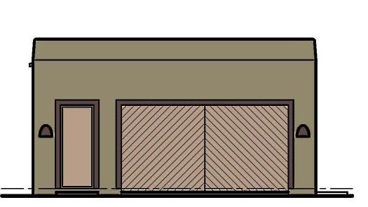 2 Car Garage Plan 54798 Elevation