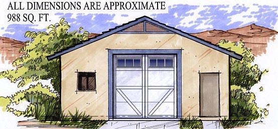 2 Car Garage Plan 54799 Front Elevation