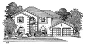 Plan Number 54906 - 2726 Square Feet