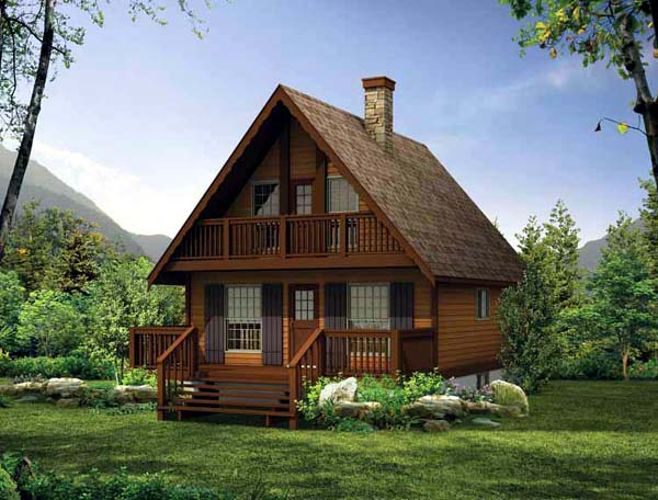 Country House Plan 55007 with 3 Beds, 2 Baths Elevation