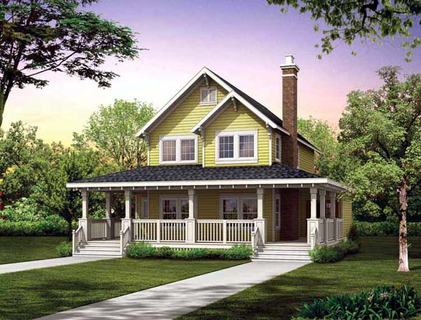 Farmhouse House Plan 55028 with 3 Beds, 3 Baths Elevation
