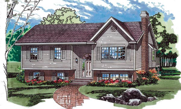 One-Story, Ranch, Traditional House Plan 55226 with 3 Beds, 2 Baths Front Elevation