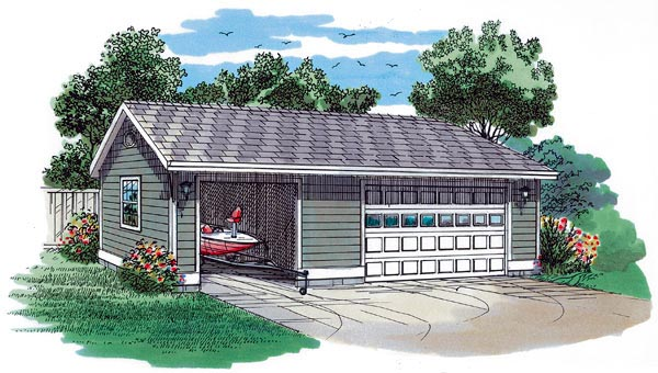 Traditional 3 Car Garage Plan 55533 Front Elevation