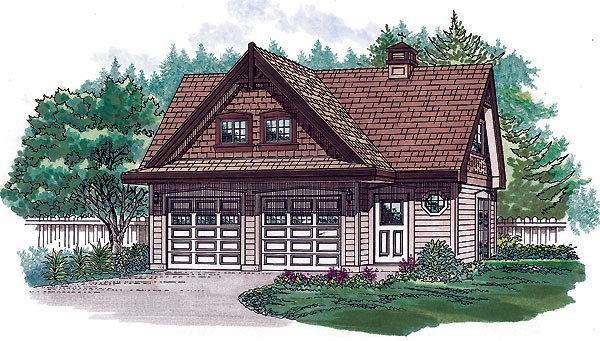 Tudor House Plan 55555 with 2 Beds, 2 Baths, 2 Car Garage Elevation