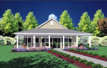 Country House Plan 56092 with 3 Beds, 2 Baths Elevation