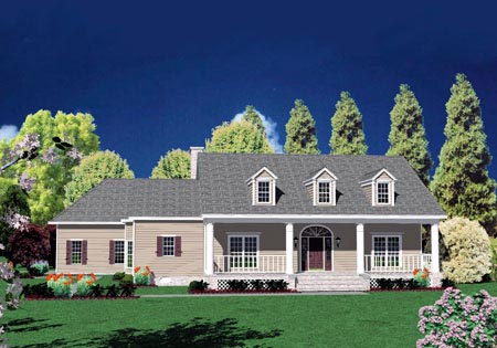 Traditional House Plan 56331 with 4 Beds, 5 Baths, 2 Car Garage Front Elevation