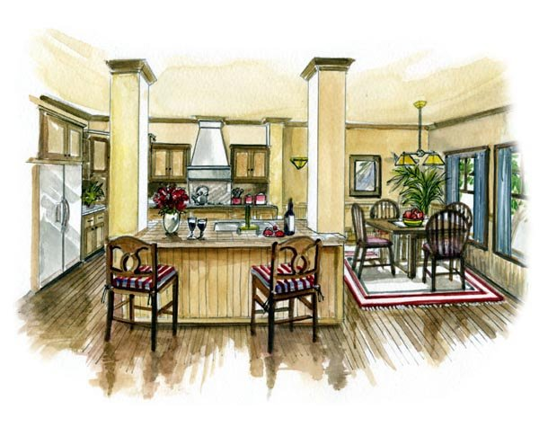 Bungalow, Craftsman House Plan 56501 with 3 Beds, 2 Baths, 2 Car Garage Picture 1