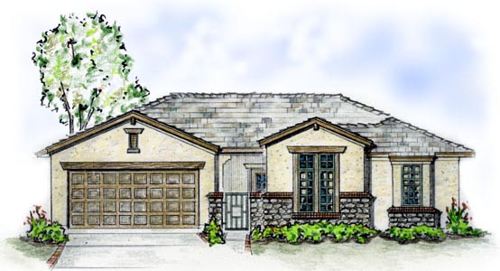 Florida, Traditional House Plan 56511 with 3 Beds, 2 Baths, 2 Car Garage Front Elevation